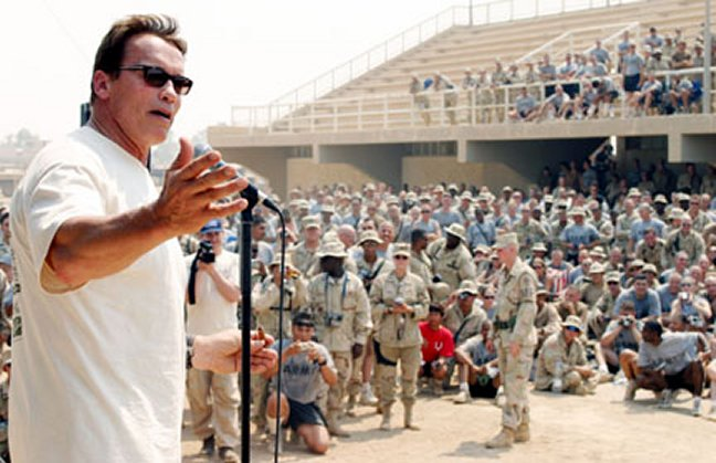 Arnold visiting troops