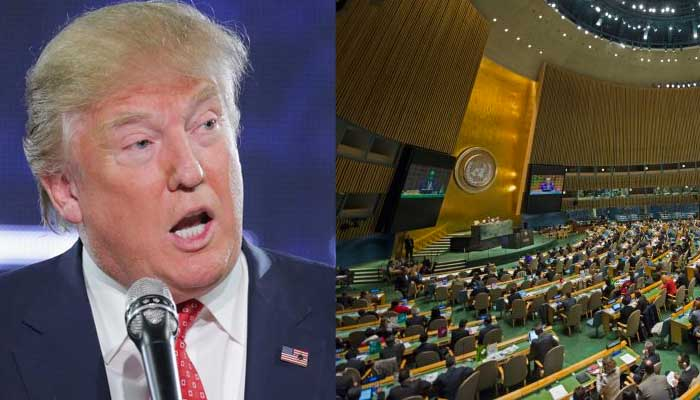 Risultati immagini per TRUMP VS UNITED NATION
