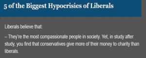 liberal hypocrisy
